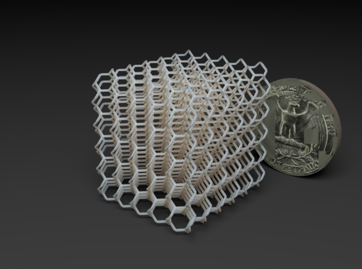 Microstructures: 10-3-a 5mm cell 3d printed
