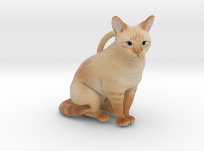 Custom Cat Ornament - Chantilly 3d printed