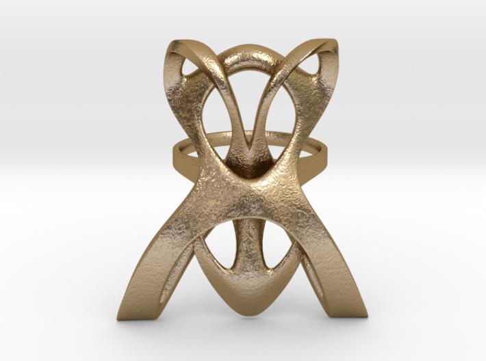 INTERLACE RING (US 6 / GER 53 / Ø inside 16,9 mm) 3d printed