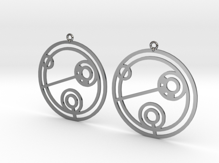 Julie - Earrings - Series 1 3d printed