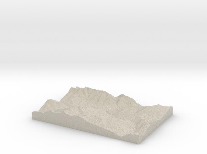 Model of Landeck 3d printed