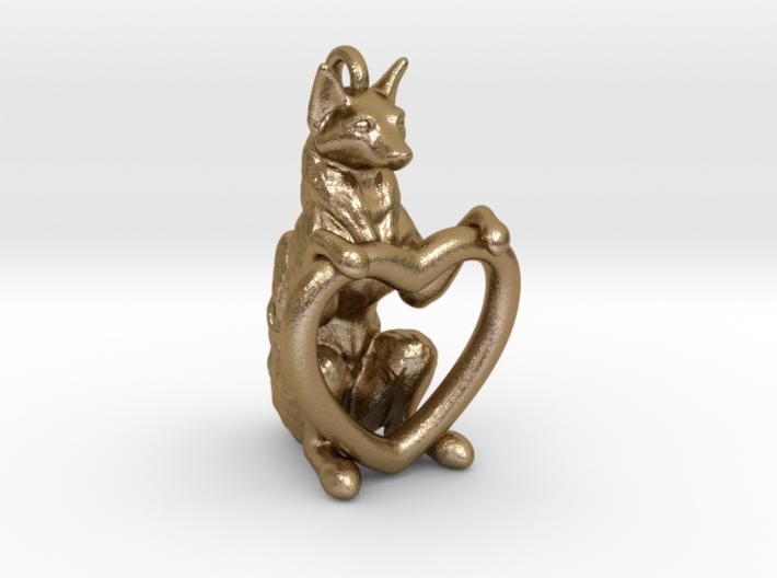 Fox Heart 3d printed