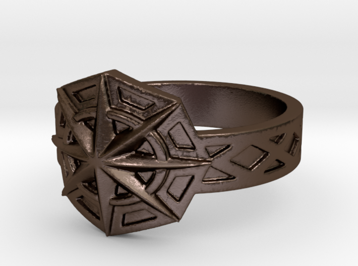 Star of the Arcane Order Ring Size 10 3d printed