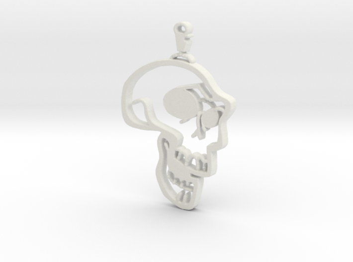 Skull Graffiti 3d printed