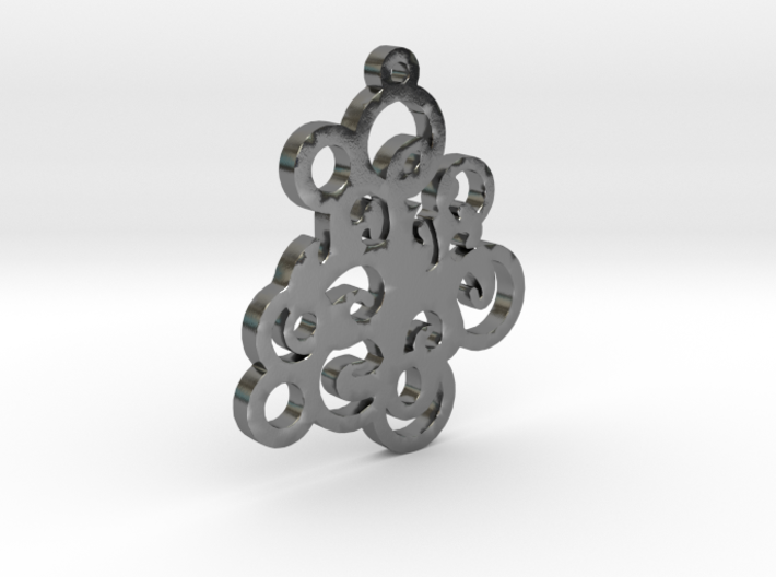 Circles Pendent 3d printed