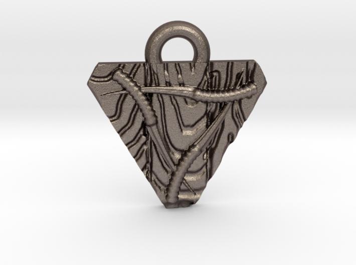 Skaven Shield keychain 3d printed