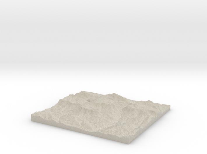 Model of Rettenbachalm 3d printed