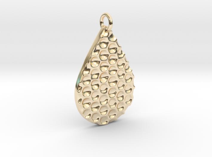 Honey Comb Pendant 3d printed