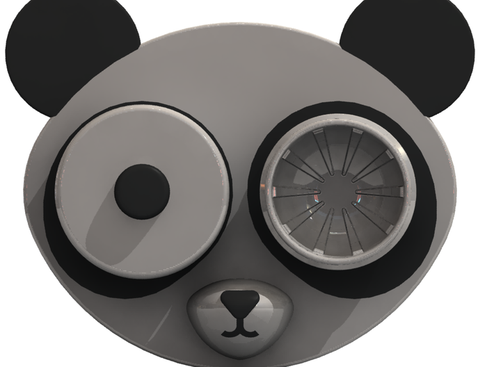 Panda Contact Lens Case 3d printed One eye removed