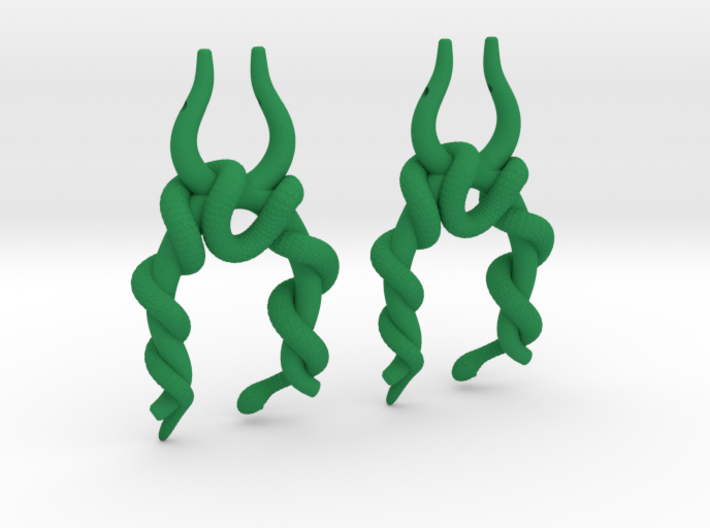 Twisted Snake Earring 3d printed