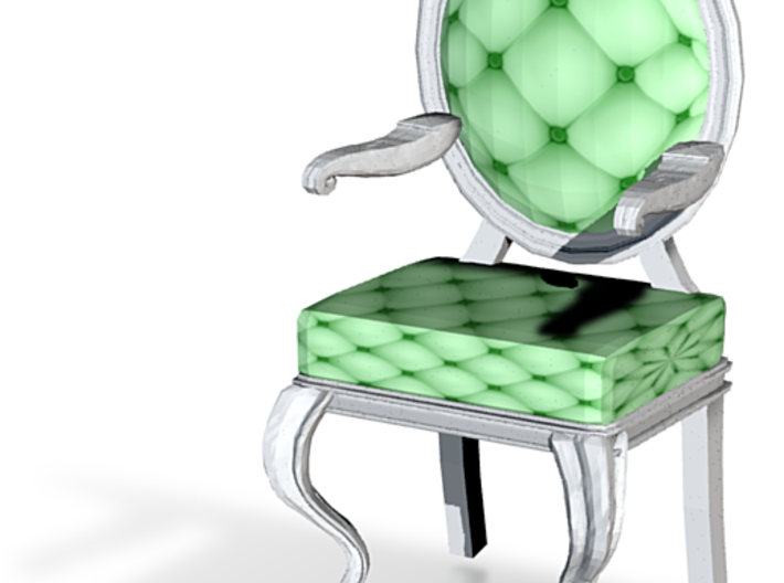 1:144 Micro Scale MintWhite Louis XVI Oval Chair 3d printed