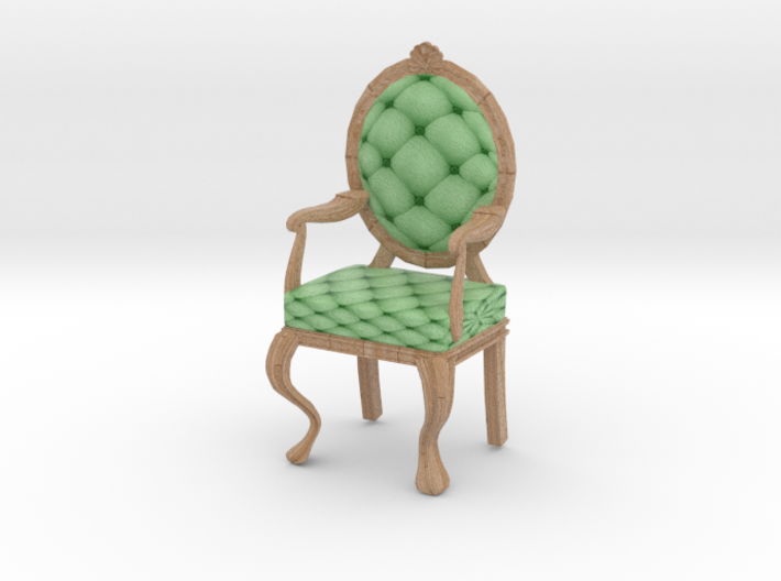 1:12 One Inch Scale MintPale Oak Louis XVI Chair 3d printed