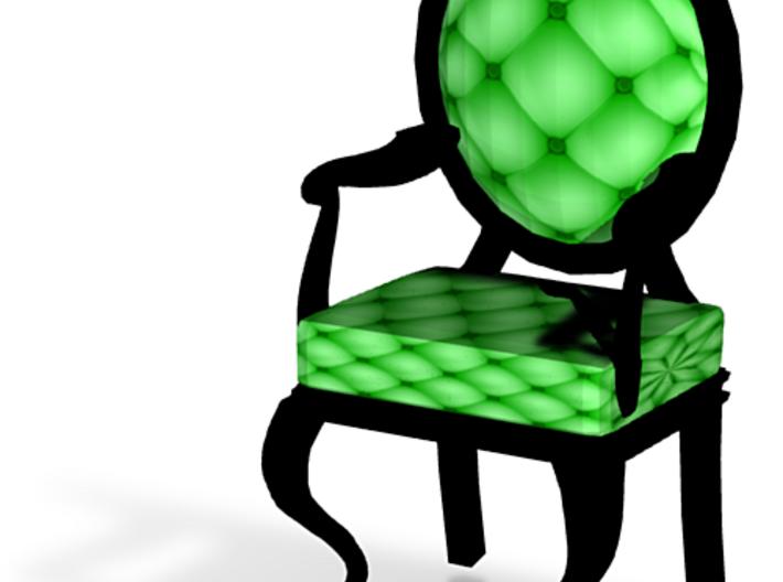 1:24 Half Inch Scale LimeBlack Louis XVI Chair 3d printed