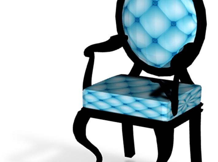 1:48 Quarter Scale SkyBlack Louis XVI Chair 3d printed