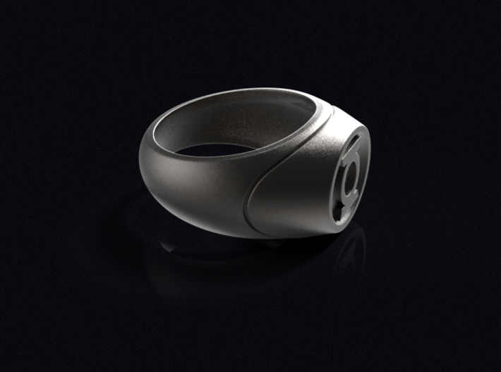 Green Lantern Ring - WotGL (Size 8 - 18.1 mm) 3d printed 3D render of the ring in Stainless Steel