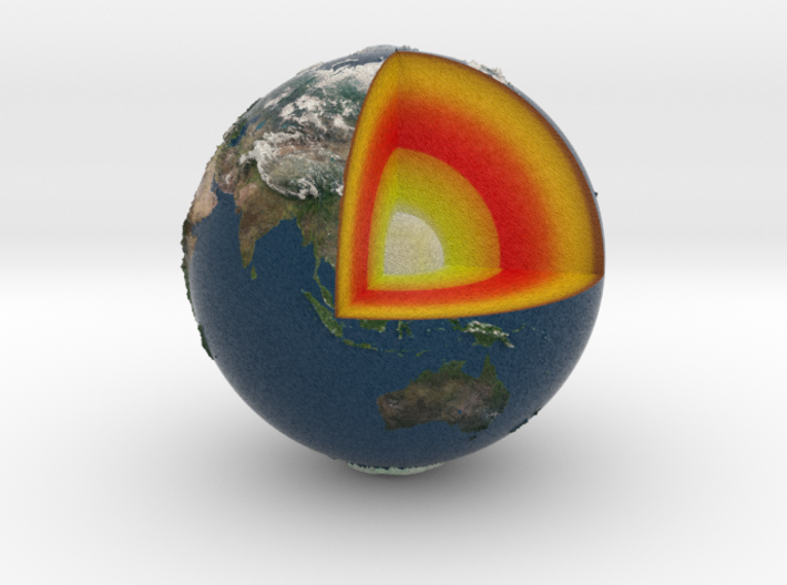 Earth with relief 3d printed