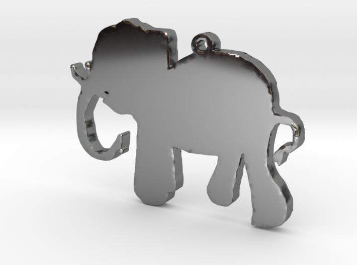 Elephant Necklace Pendant 3d printed