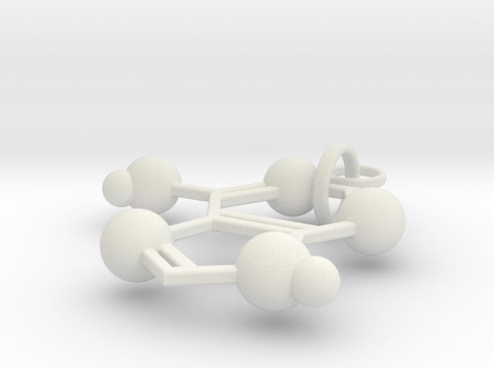 Adenine(ring added) 3d printed