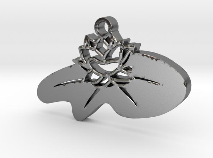 Zen Lotus Pendant 3d printed