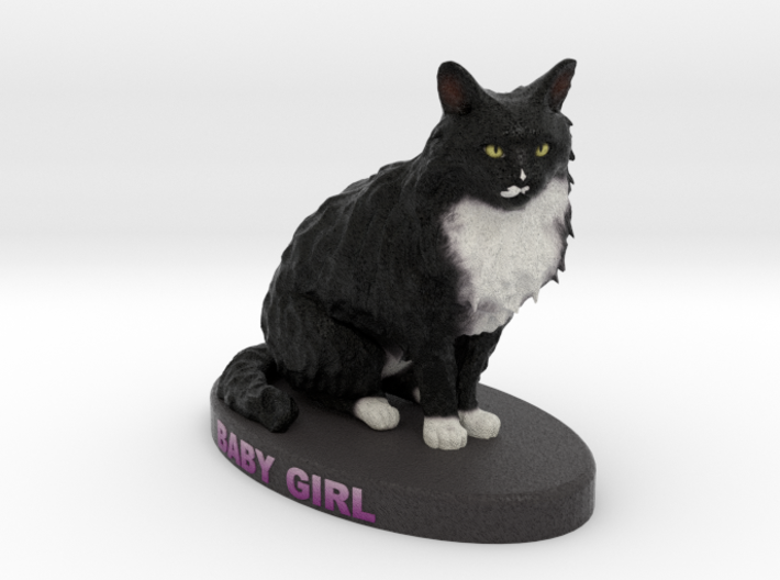 Custom Cat Figurine - Babygirl 3d printed