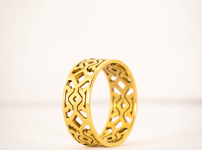 Octal Geometry  Ring Size 6 3d printed