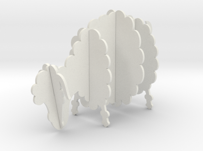 Wooden Sheep A 1:24 3d printed