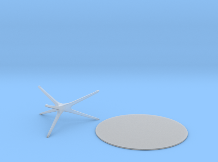 Mid-Century Round Coffee Table (2 pieces) 1:48 3d printed