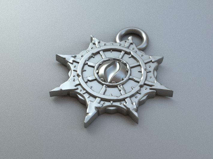 Chaos Pendant Small 3d printed