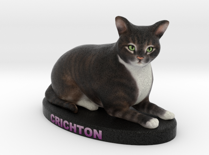 Custom Cat Figurine - Crichton 3d printed