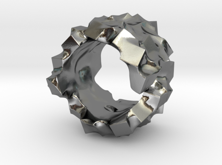 Ring of cubes No.4 3d printed