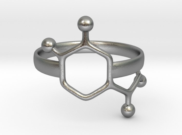 Adrenaline Molecule Ring - Size 7 3d printed