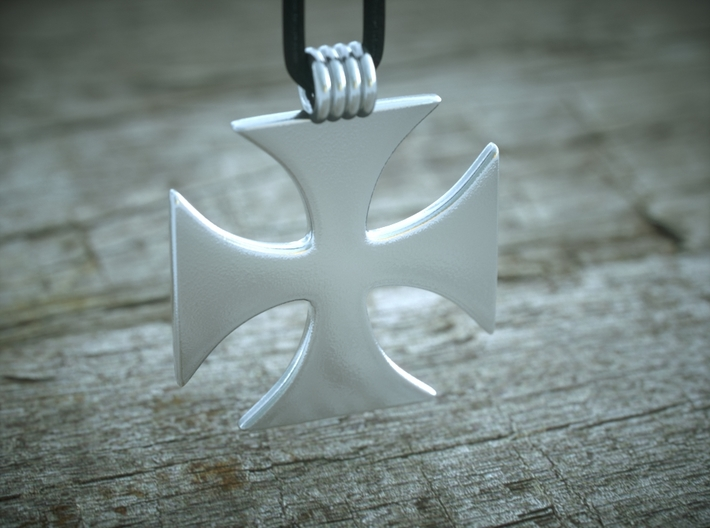 Crusader Cross Pendant 3d printed