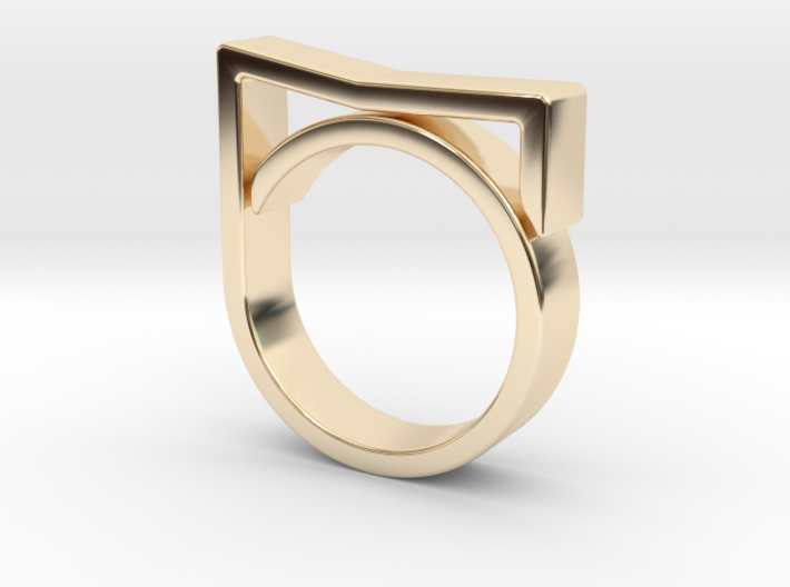 Adjustable ring for men. Model 7. 3d printed