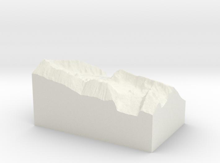 "Haleakala Crater, 2.4x, 4"" 3d printed"