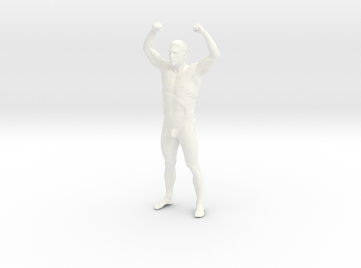 Bodybuilding man in 8cm Passed 3d printed