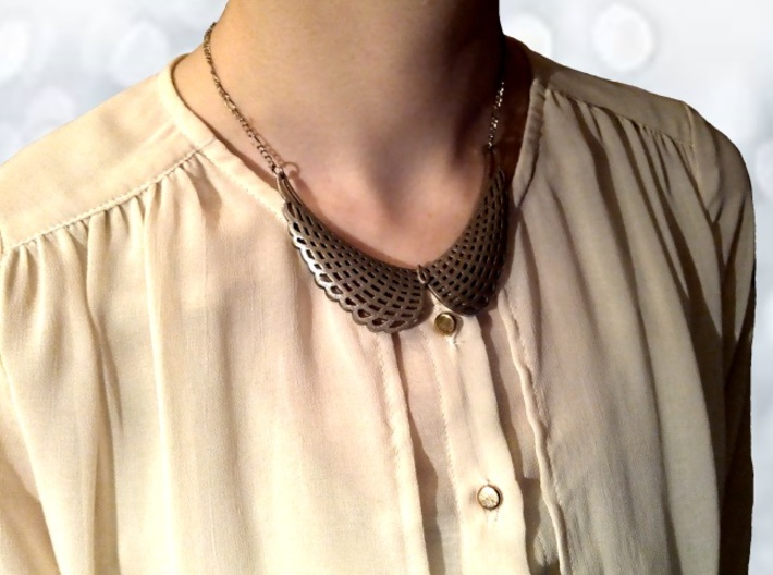 Collar Necklace (Mesh Edition) 3d printed Stainless Steel