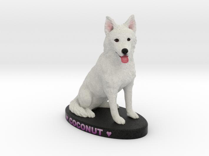 Custom Dog Figurine - Coconut 3d printed