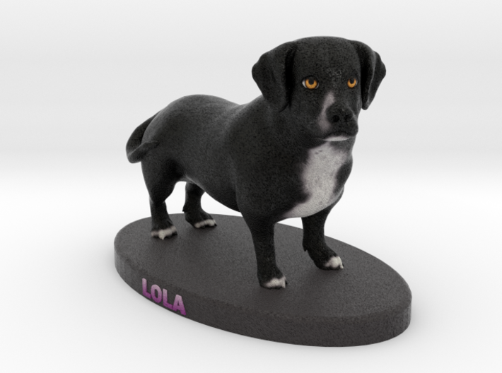 Custom Dog Figurine - Lola 3d printed