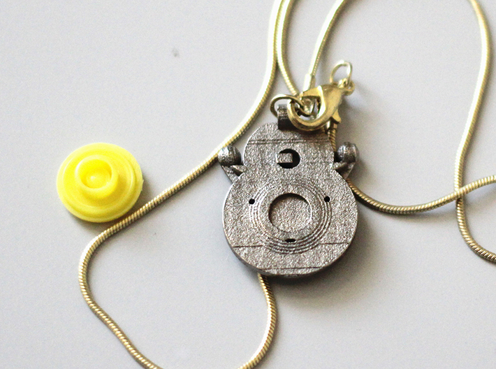 The Cat God pendant 3d printed back is compatible with a male snappy bottom