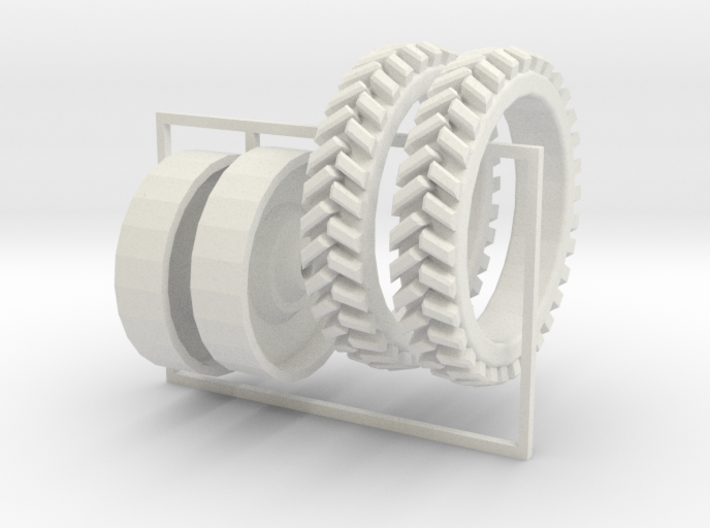 1/64 tall skinny tires for potato planting undetai 3d printed