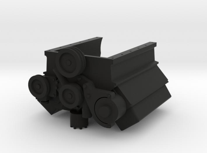 Ford V8 1-10 Long Block Engine 3d printed