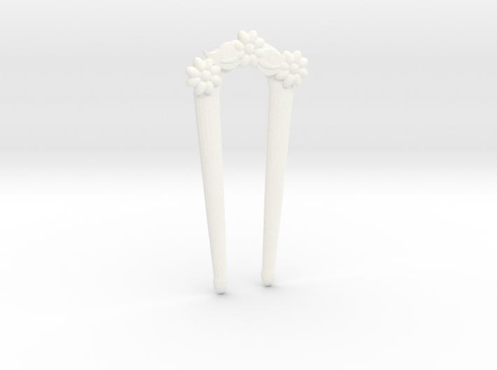 Hairfork Flower Arch 6.5cm hair fork 3d printed
