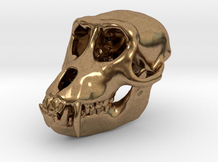 Macaque Rhesus Monkey Skull Pendant  3d printed