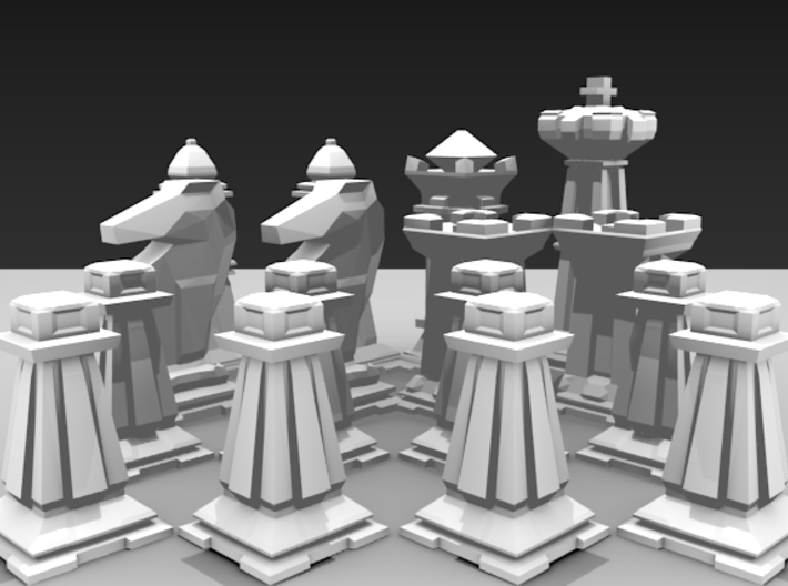 Mini Chess Set - One Player's Pieces 3d printed
