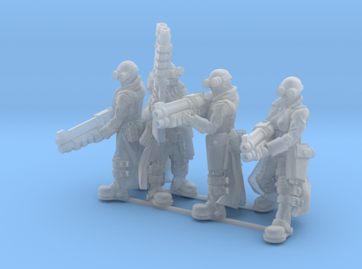 Female Stealth Gang with Shotguns 3d printed