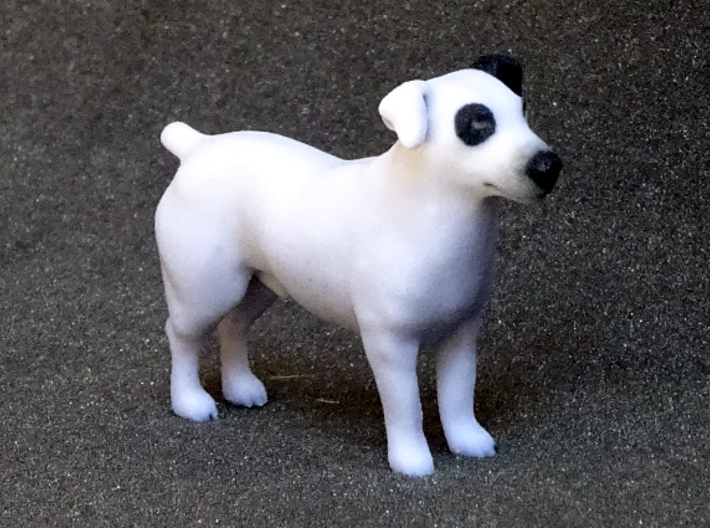 Black & White Jack Russell Terrier 3d printed