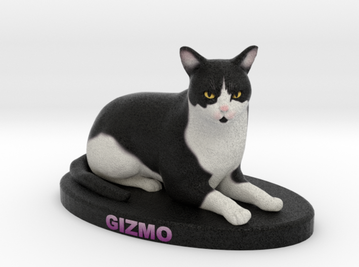 Custom Cat Figurine - Gizmo 3d printed