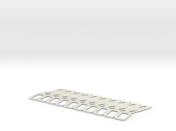 Hinged flat torus 3d printed