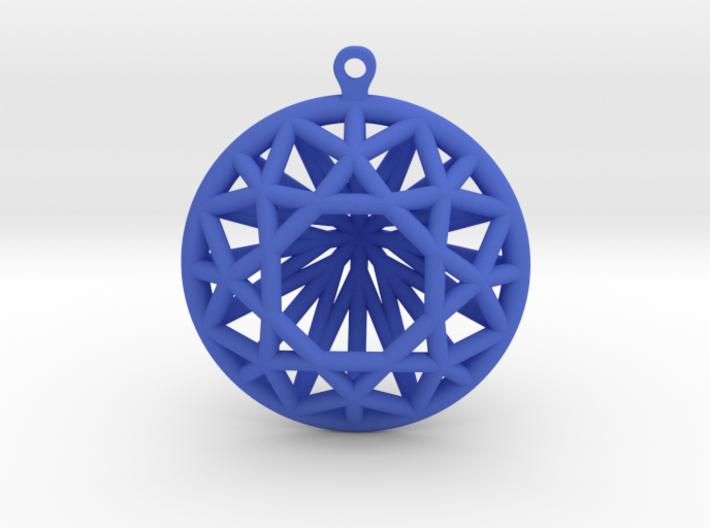 3D Printed Diamond Circle Cut Earrings 3d printed