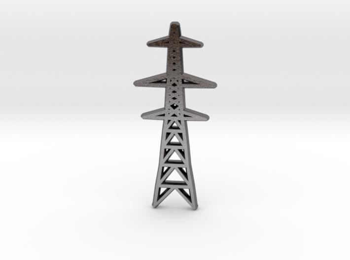 L6 Pylon pendant/keyfob 3d printed